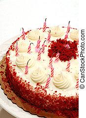 gâteau, bougies, anniversaire, a éteint