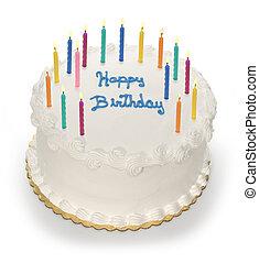 gâteau, bougies, b-day
