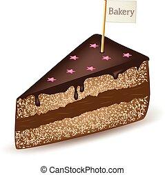 gâteau, boulangerie, chocolat