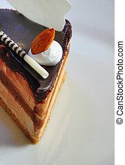 gâteau, café, fondant, 3, chocolat