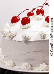 gâteau, cerise, vanille