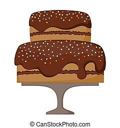 gâteau, chocolat