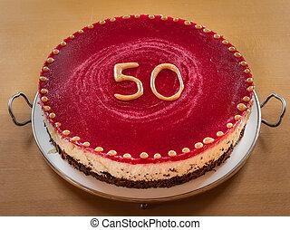gâteau, clou girofle, anniversaire, 50th