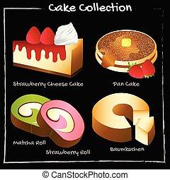gâteau, collection