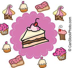 gâteau, conception