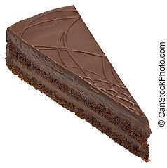 gâteau, coupure, chocolat