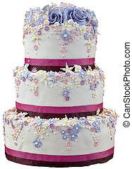 gâteau, coupure, mariage