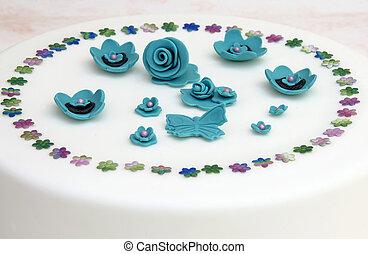 gâteau, décoré