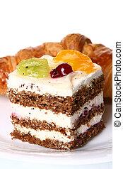 gâteau, dessert, fruit, confiture