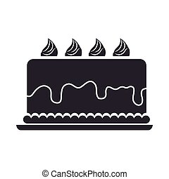 gâteau, dessert, nourriture