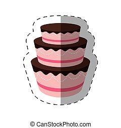 gâteau, dessert, ombre, délicieux, doux