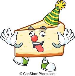 gâteau, dessin animé, style, caractère, clown, fromage, amuser, mascotte