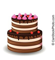 gâteau, doux, chocolat