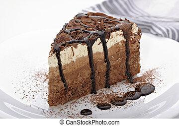 gâteau, doux, crème, nourriture, chocolat