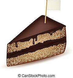 gâteau, drapeau, chocolat