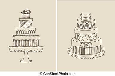gâteau, et, giflts