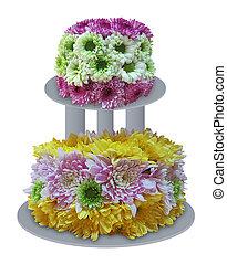 gâteau, fleur