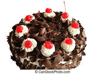 gâteau, forêt noire