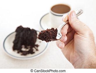 gâteau, forkful