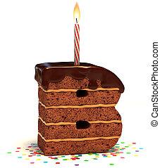 """gâteau, formé, """"b"""", lettre, chocolat"""