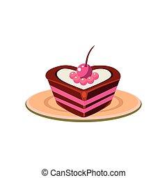 gâteau, forme coeur