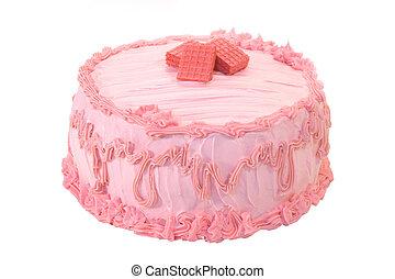 gâteau, fraise, entier