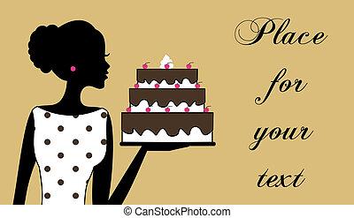 gâteau, girl
