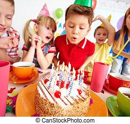 gâteau, gosses