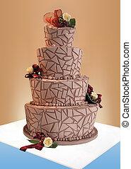 gâteau, grand, mariage