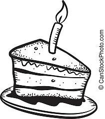 gâteau, griffonnage
