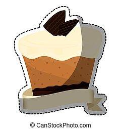 gâteau, image, embellished, patisserie, icône
