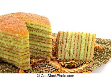 gâteau, indonésien, couche