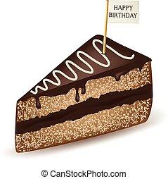 gâteau, joyeux anniversaire, chocolat