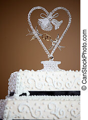 gâteau, luxe, mariage