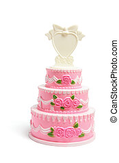 gâteau, miniature, figurine, mariage