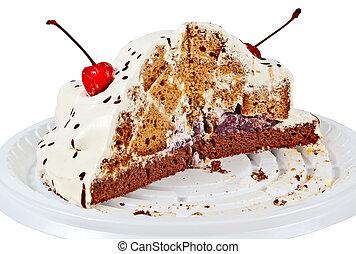 gâteau, moitié