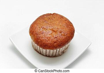gâteau, muffin, banane