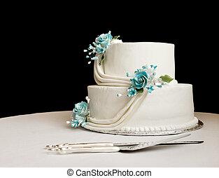 gâteau, noce blanche