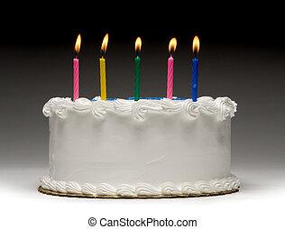 gâteau, profil, anniversaire