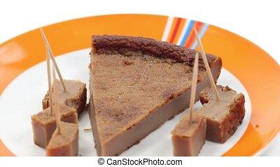 gâteau, saison, automne, châtaigne