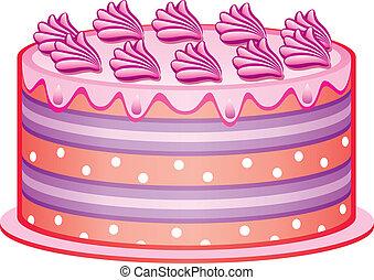 gâteau, vecteur