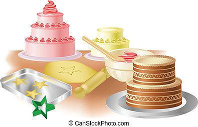 gâteaux, biscuits traitement four