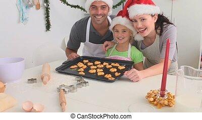 gâteaux, cuisine, quelques-uns, famille