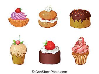 gâteaux, ensemble