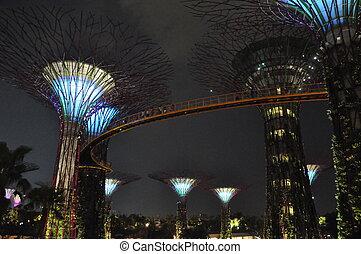 gärten, per, der, bucht, in, singapur