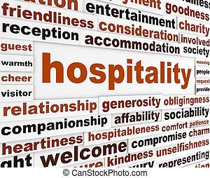 gästfrihet, skapande, ord, begrepp