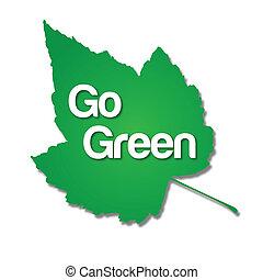 gå, grön leaf
