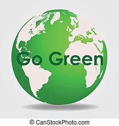 gå, grønne