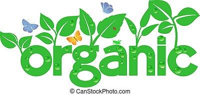 gå, organisk, -, grön