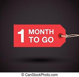 gå, underteckna, en, månad